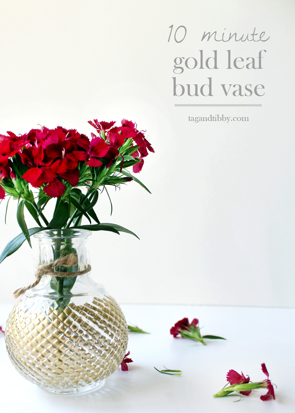 make this 10 minute gold leaf bud for under $10! | tag&tibby