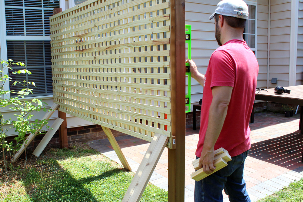 Nice Wood Patio Privacy Screen DIY
