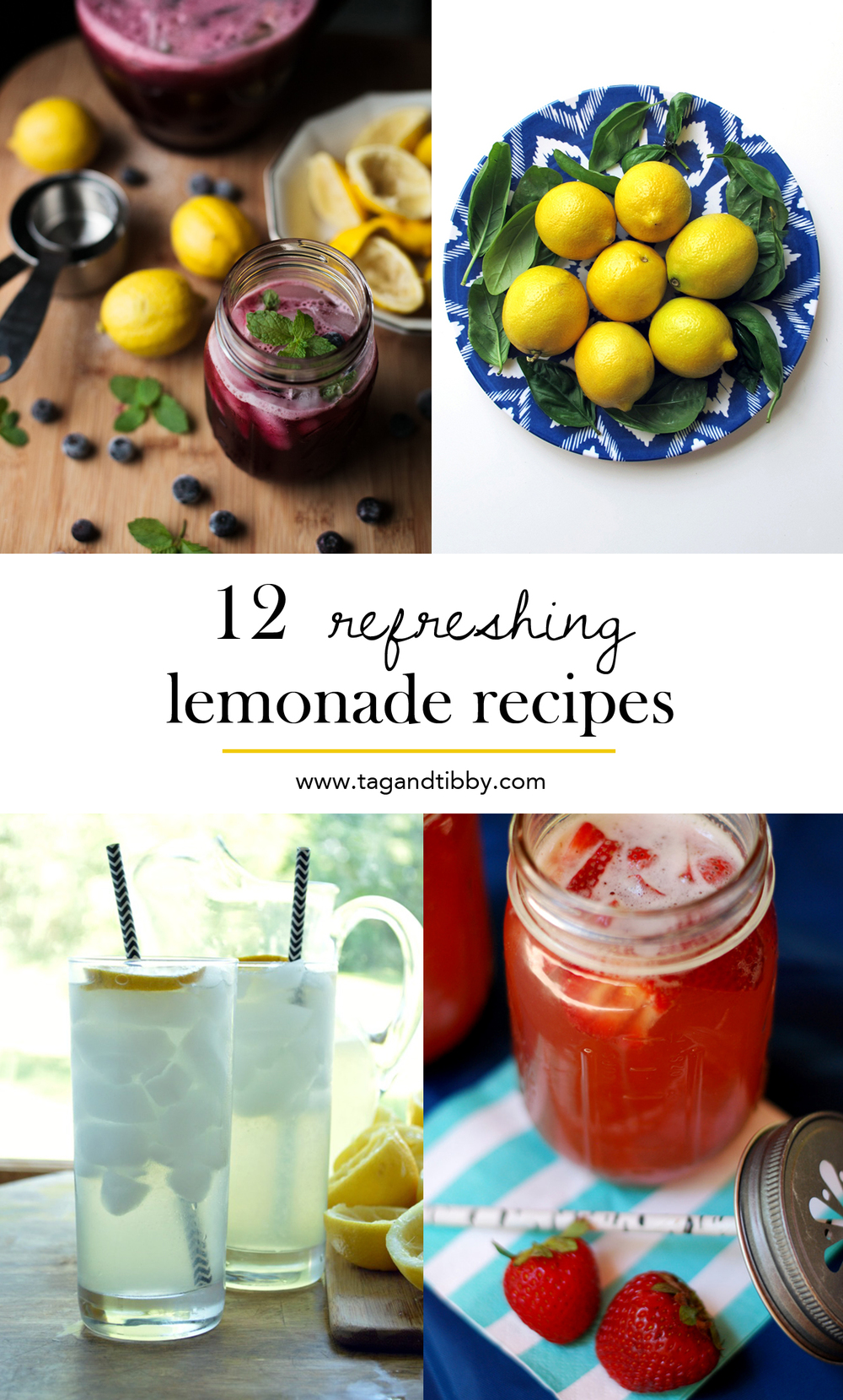 12 refreshing homemade lemonade recipes, perfect on a hot summer day!