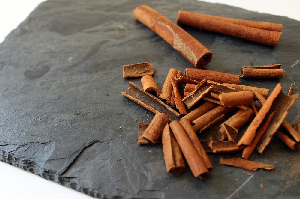 coarsely chop cinnamon bark