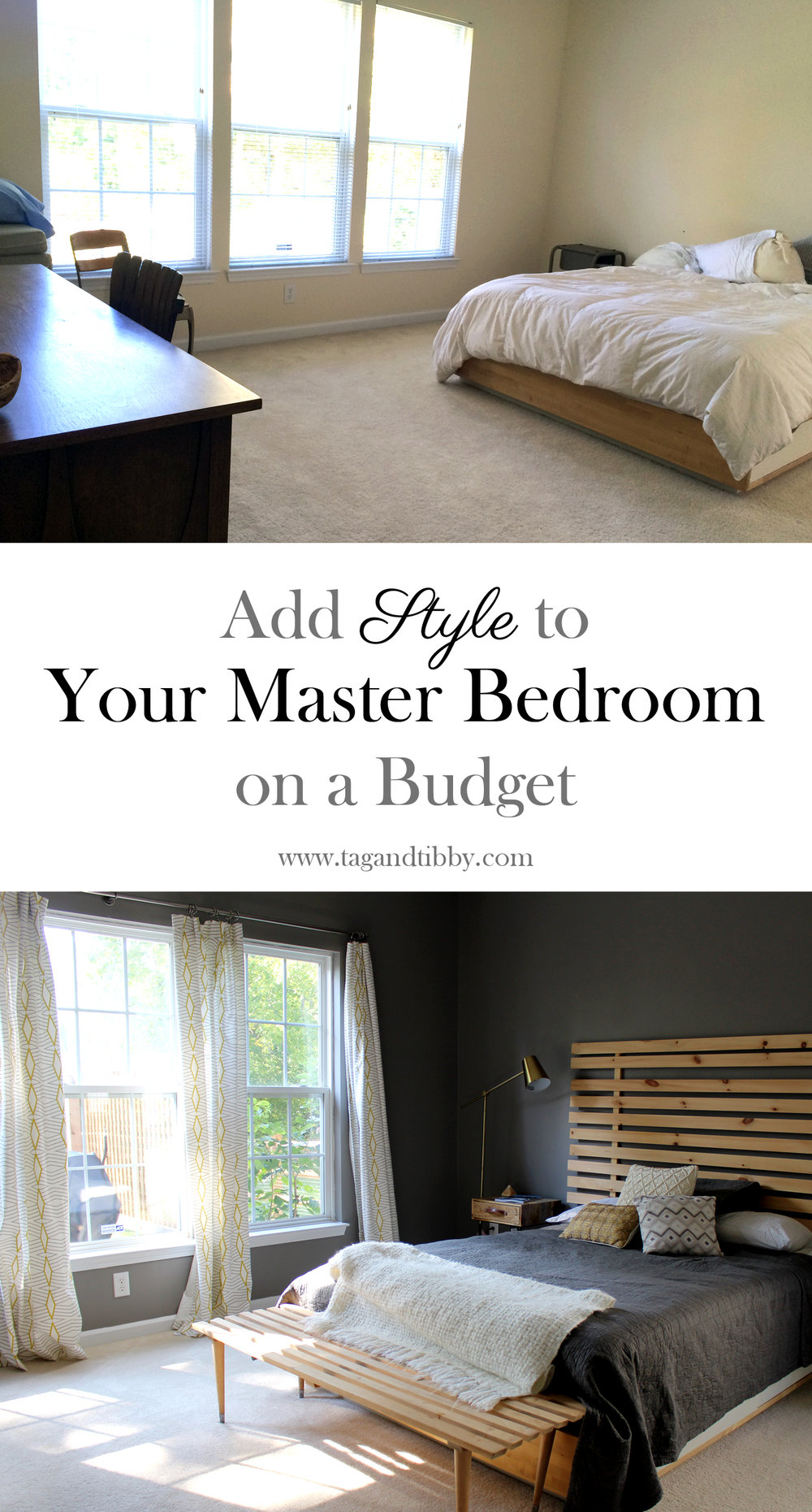 4 tips for adding style to your master bedroom without breaking the bank!