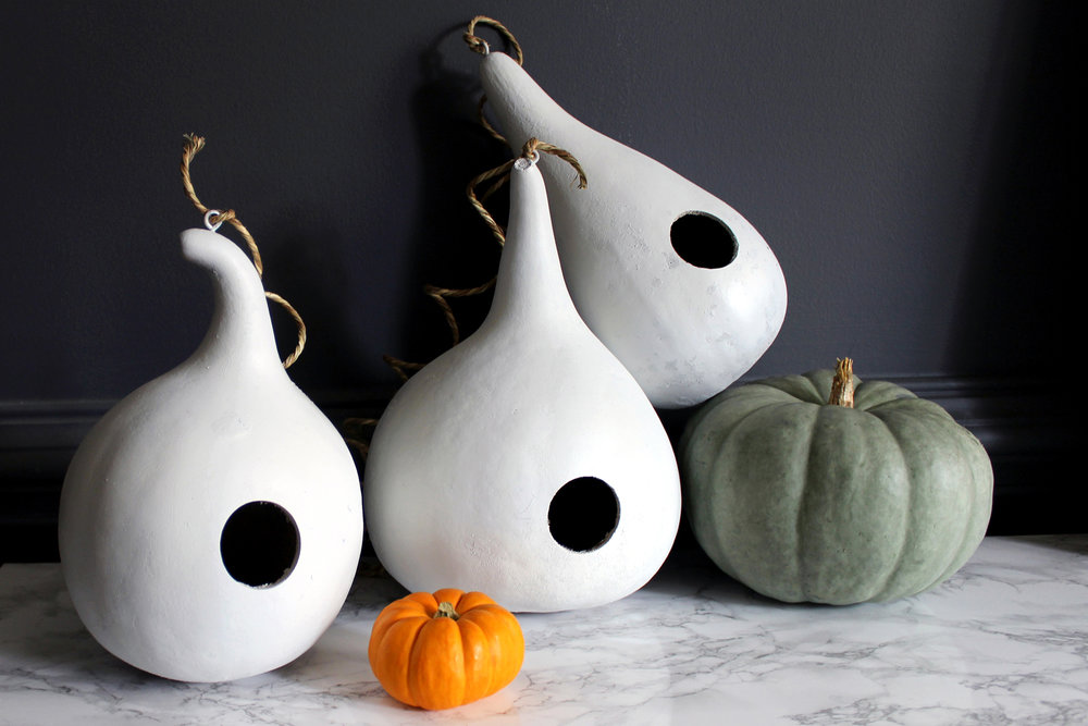 DIY white gourds