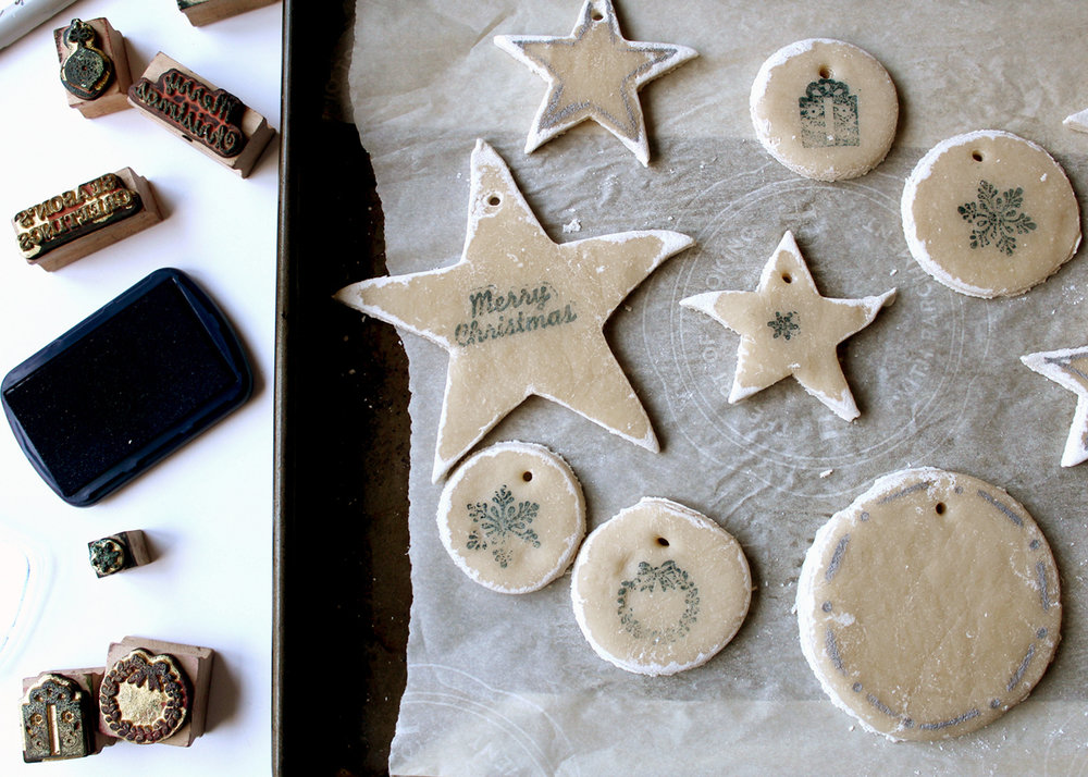 no-bake salt dough ornaments