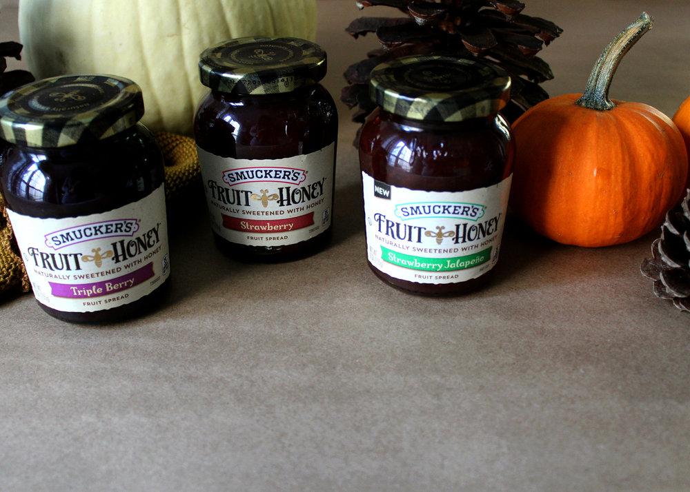 Varieities of Smucker's Fruit & Honey Fruit Spread