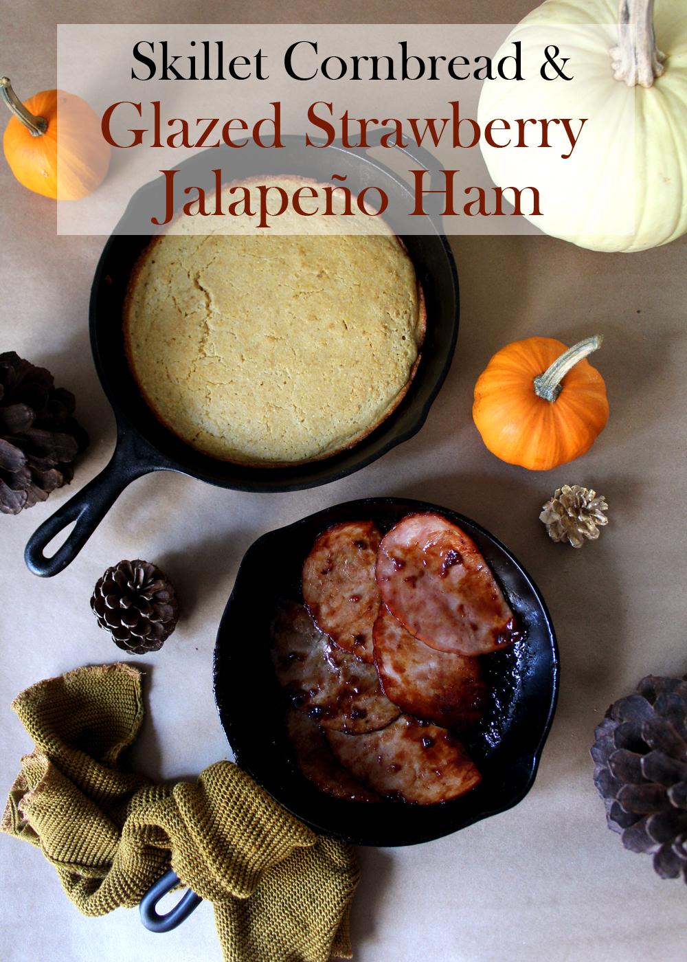buttermilk skillet cornbread with glazed ham recipe