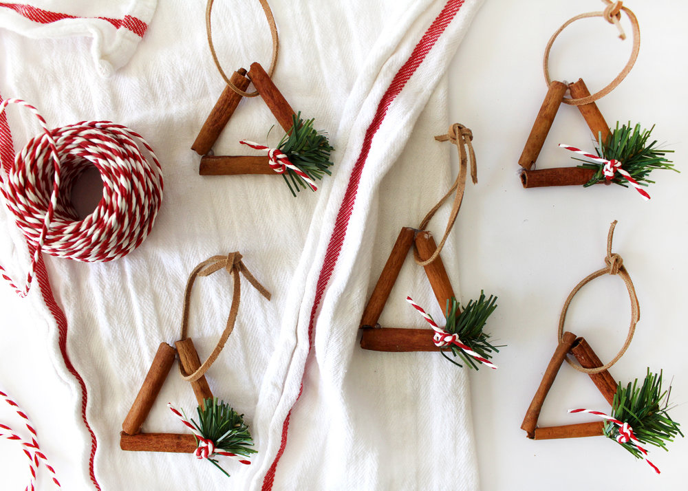 how to make rustic cinnamon stick ornaments