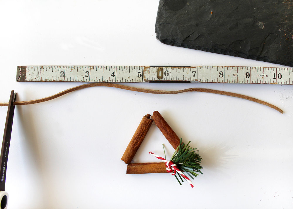 measure and cut suede for ornament