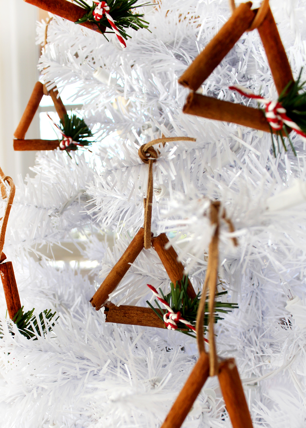 hang these cinnamon stick ornaments on your tree or give them as a gift