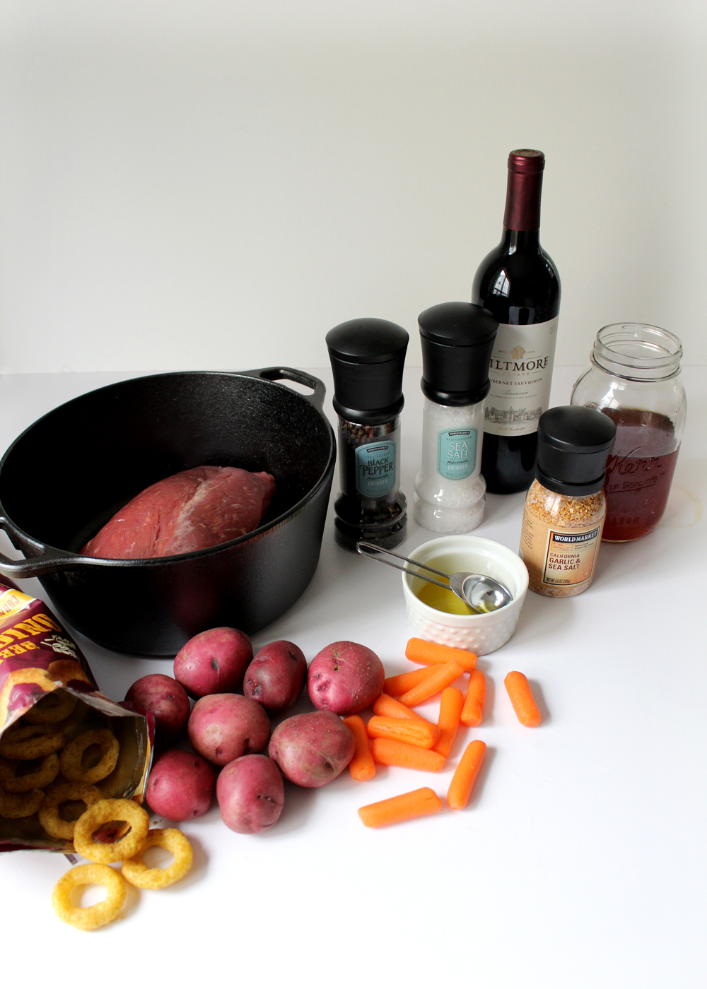 simple ingredients for a classic pot roast recipe