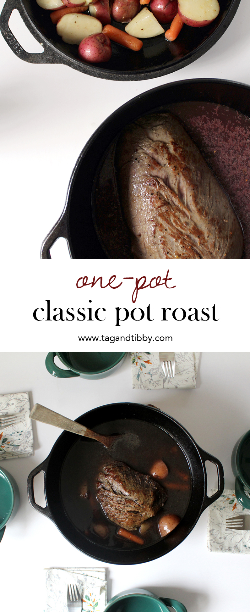 a classic one-pot pot roast recipe in 7 easy steps