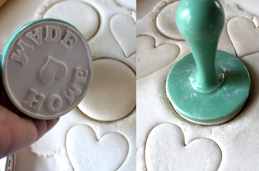 "use a cookie stamp to create ""homemade"""