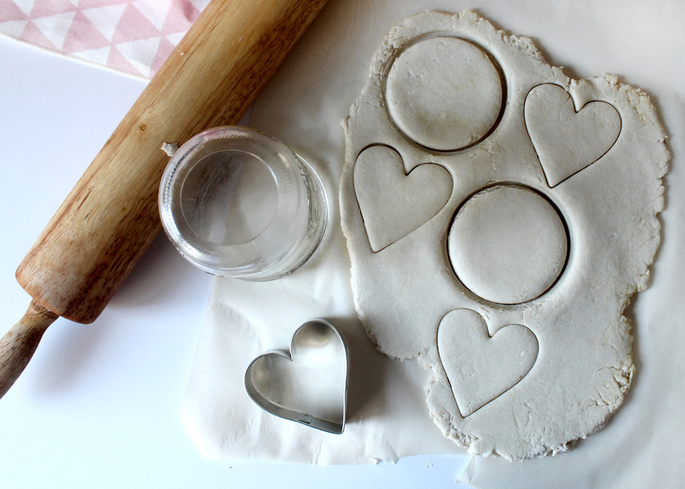 use cookie cutter and jar to create shapes