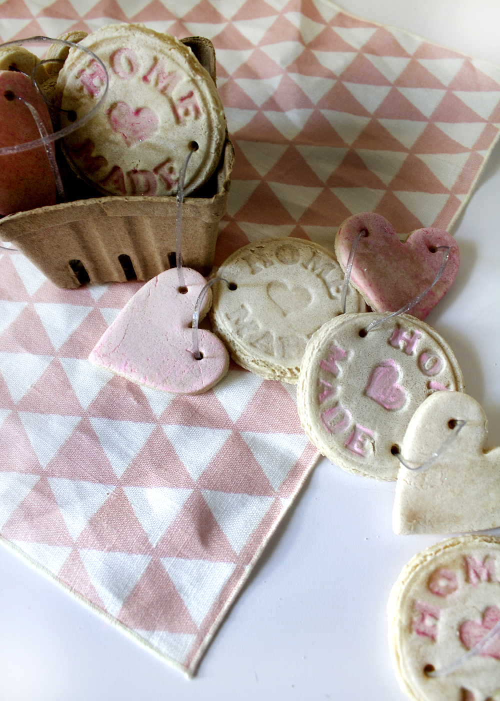 make salt dough shapes for Valentine's Day!