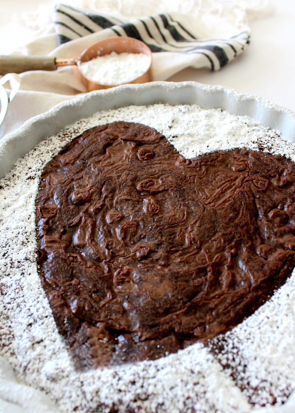 how to make a Valentine's brownie