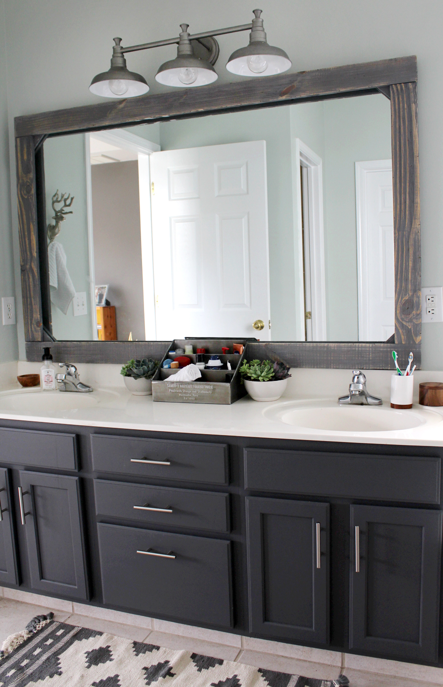 How To Put Frame Around Bathroom Mirror
