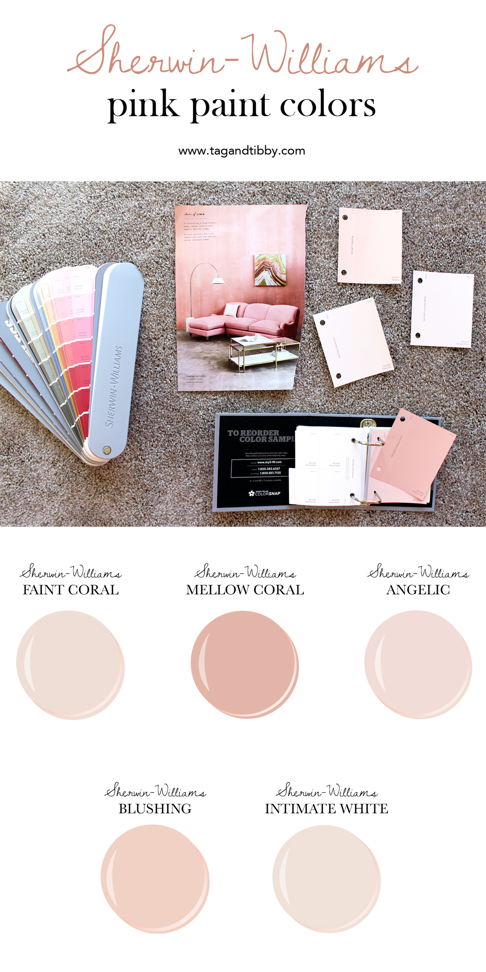 From Soft Corals To Blush, The Best 5 Pink Sherwin Williams Paint Colors