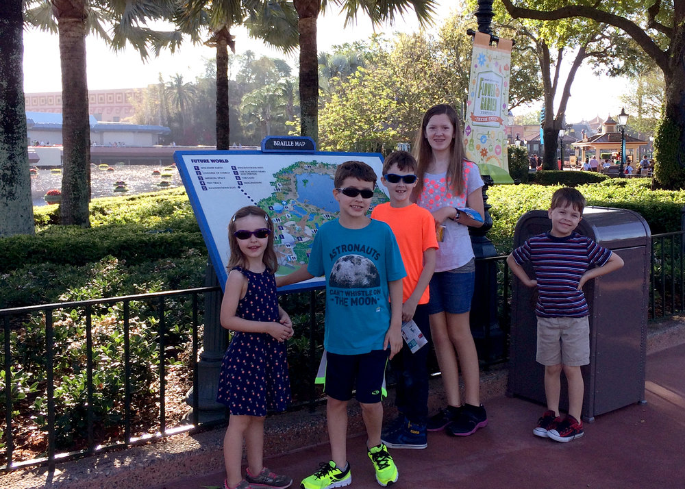 Our kids hanging out with their cousins at Epcot
