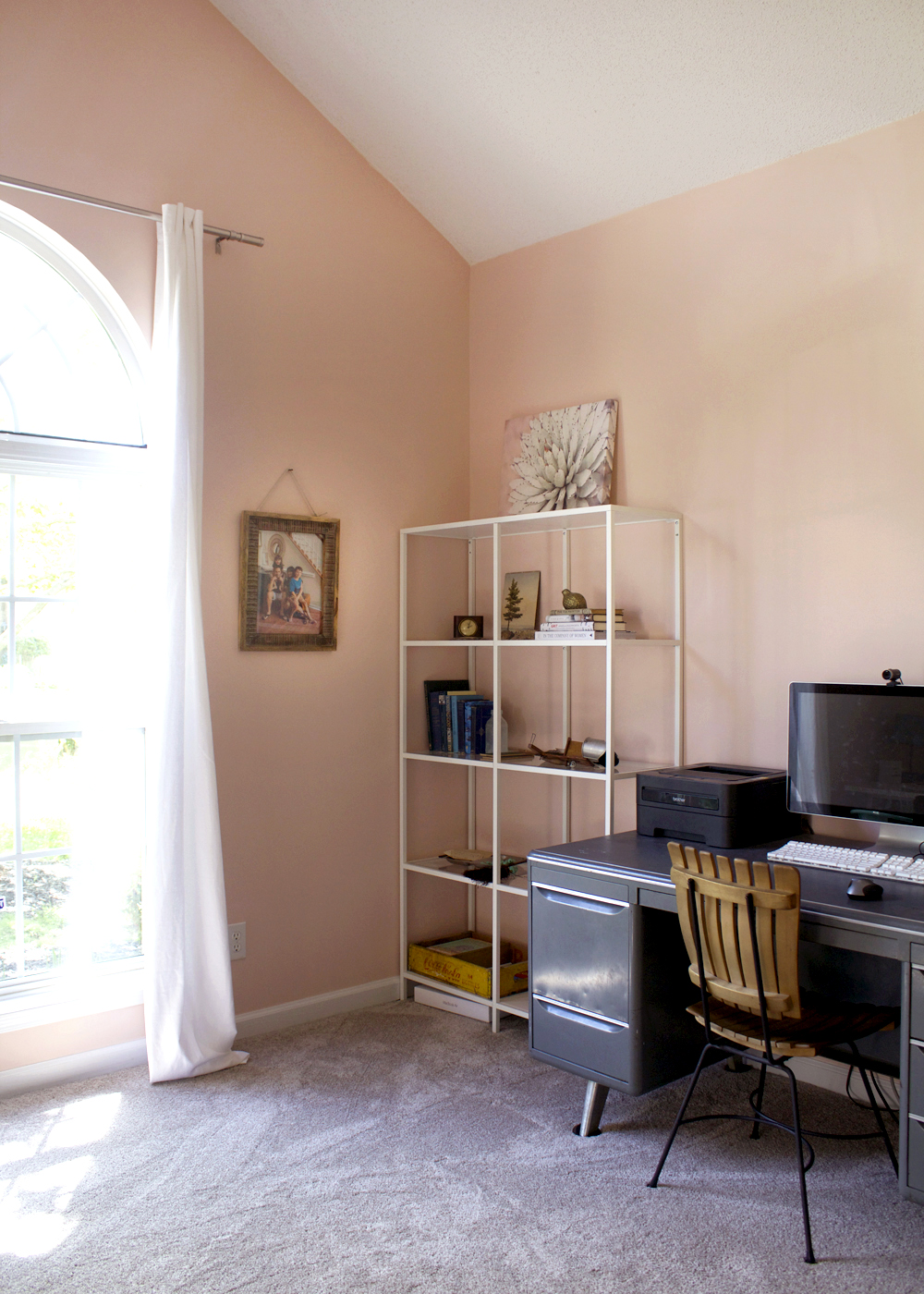 a blush home office makeover