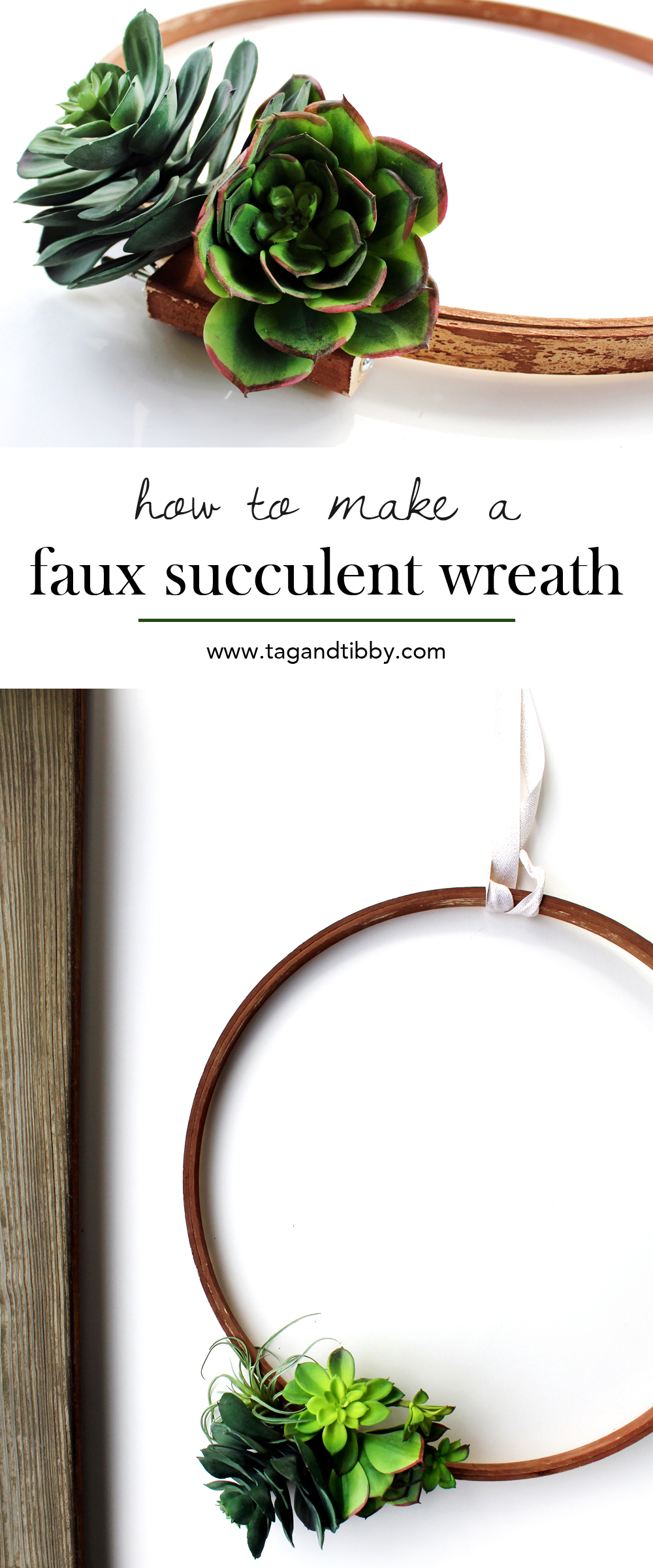 DIY faux succulent wreath tutorial | tag&tibby