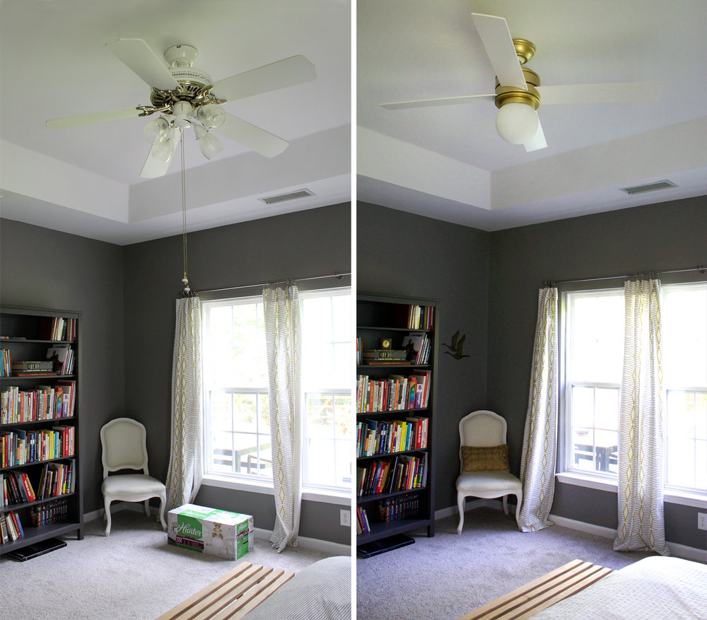 A Ceiling Fan Upgrade Can Make the Room Complete — Tag & Tibby