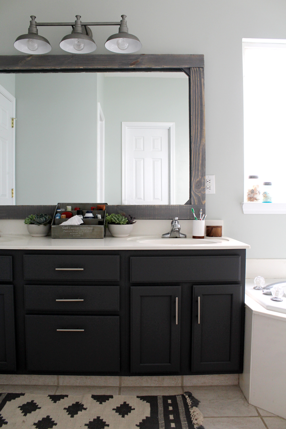 $300 master bathroom makeover (SW Sea Salt + Peppercorn) | Tag&Tibby