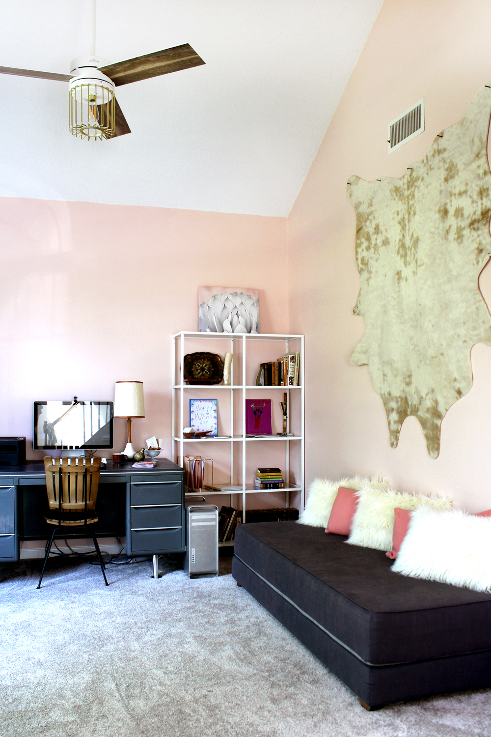 Blush Pink Home Office in SW Romance