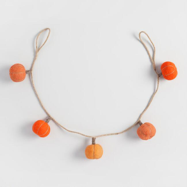 Wool Pumpkin Garland