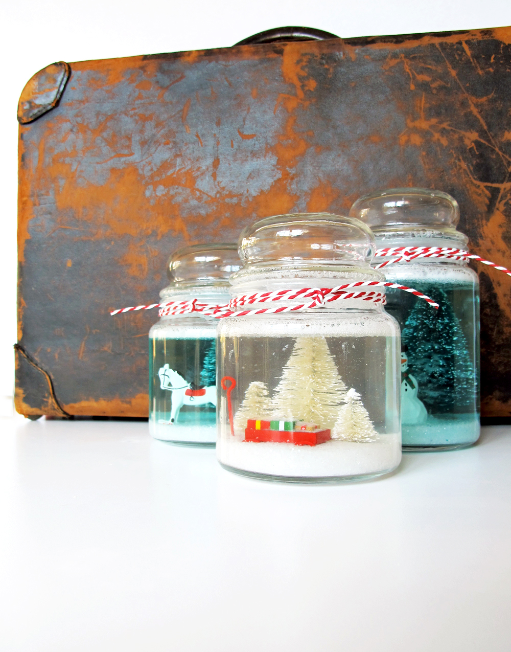 fun cookie jar snow globe DIY for Christmas