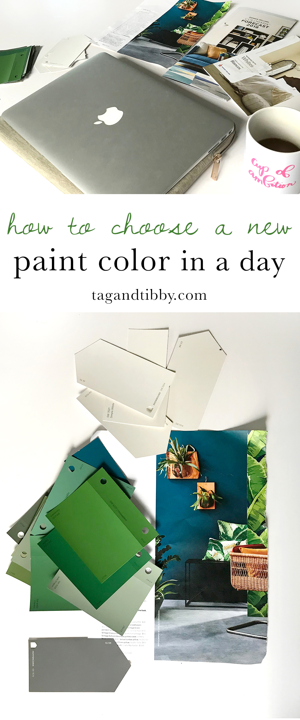 great article with practical tips for selecting a paint color quickly