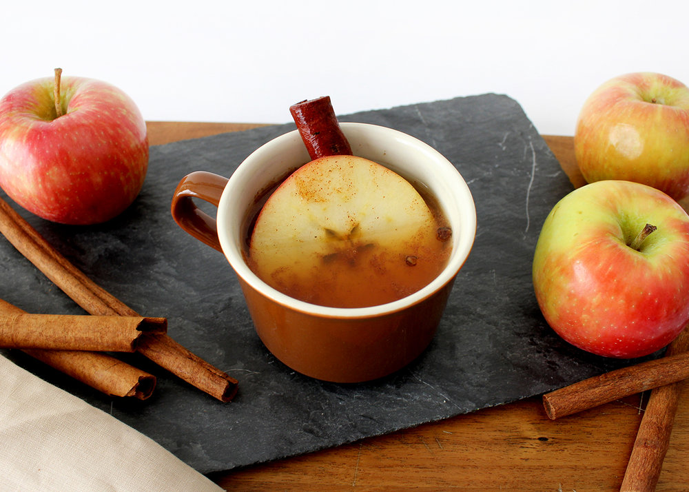 hot cinnamon cider tea, a yummy seasonal recipe made with Milo's Tea #PassTheMilos#Pmedia #ad