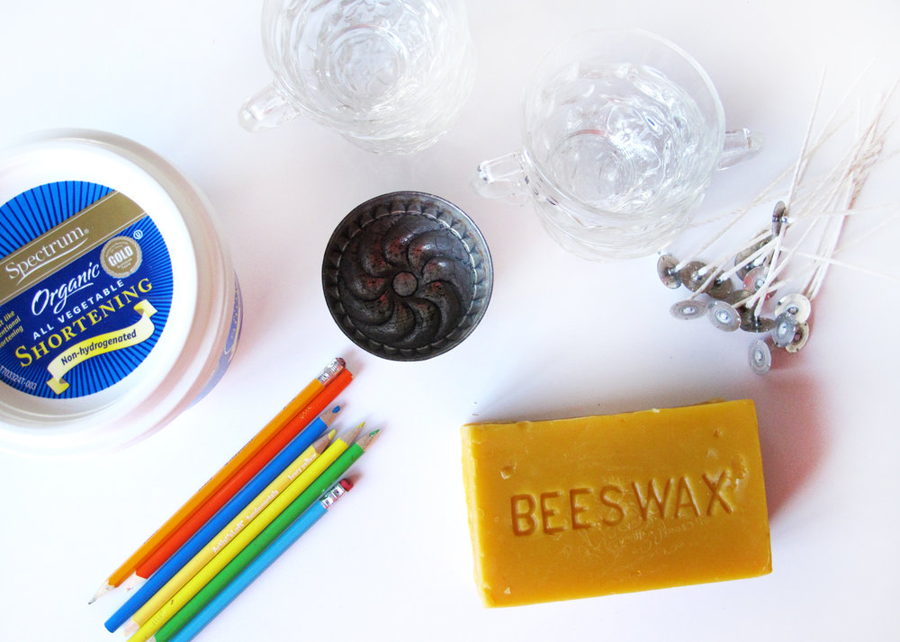 supplies for making beeswax candles