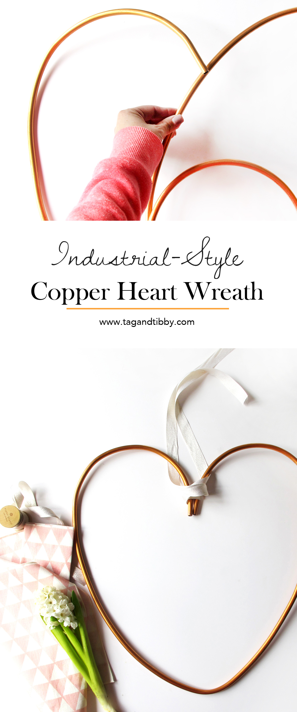 Industrial Style Copper Heart Wreath tutorial #ValentinesDayDIY