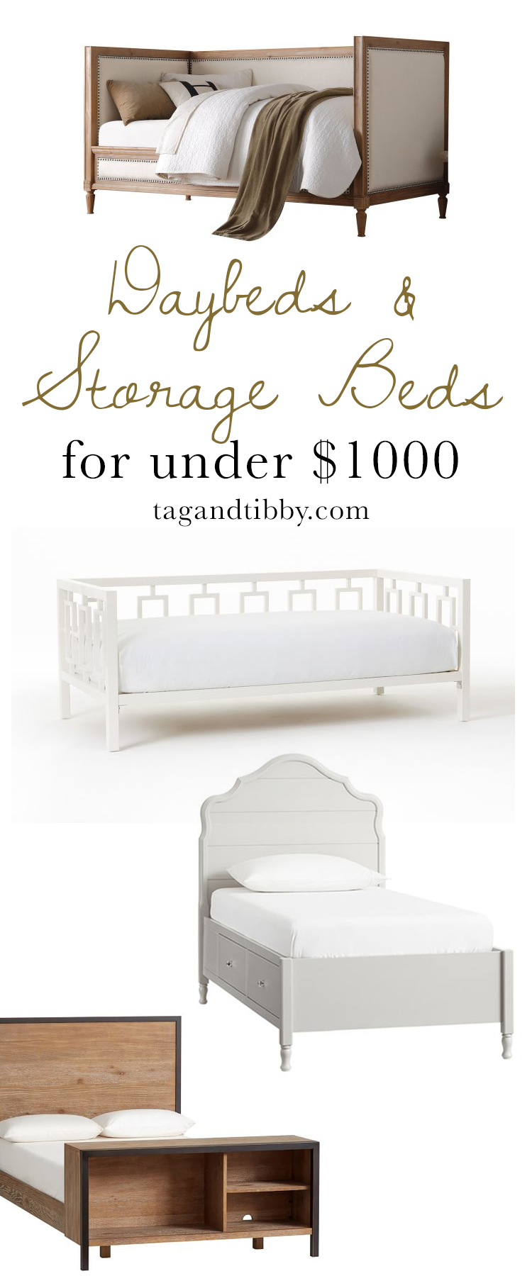 Daybeds & Storage Beds for Tweens priced under $1k