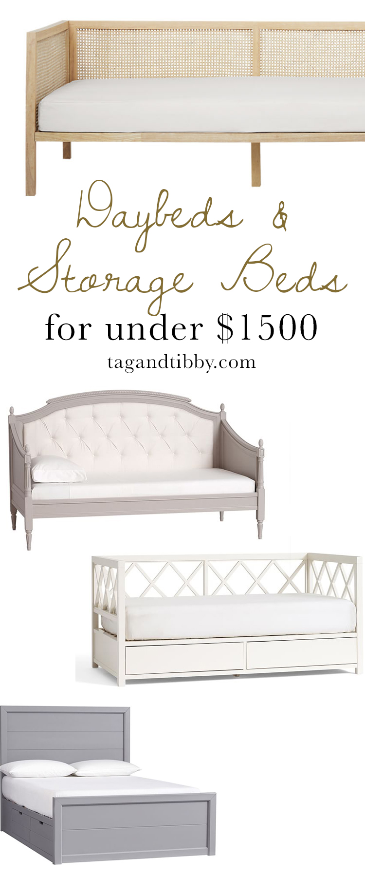 Daybeds & Storage Beds for Tweens priced under $1.5k