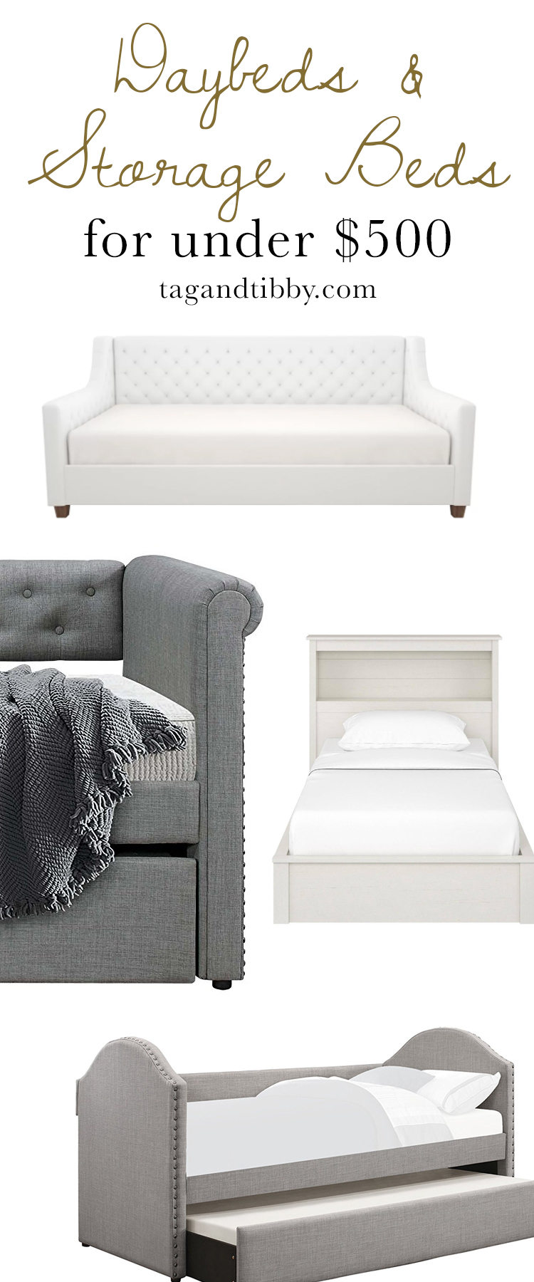 Daybeds & Storage Beds for Tweens priced under $500