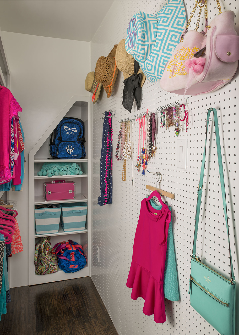 Creative Pegboard Wall via IBB Design