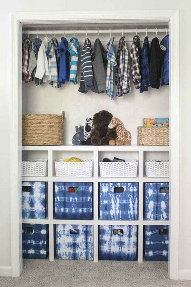 DIY Closet Shelves via Lovely etc.