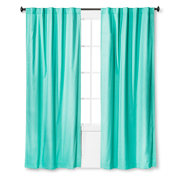 Aqua Blackout Curtain