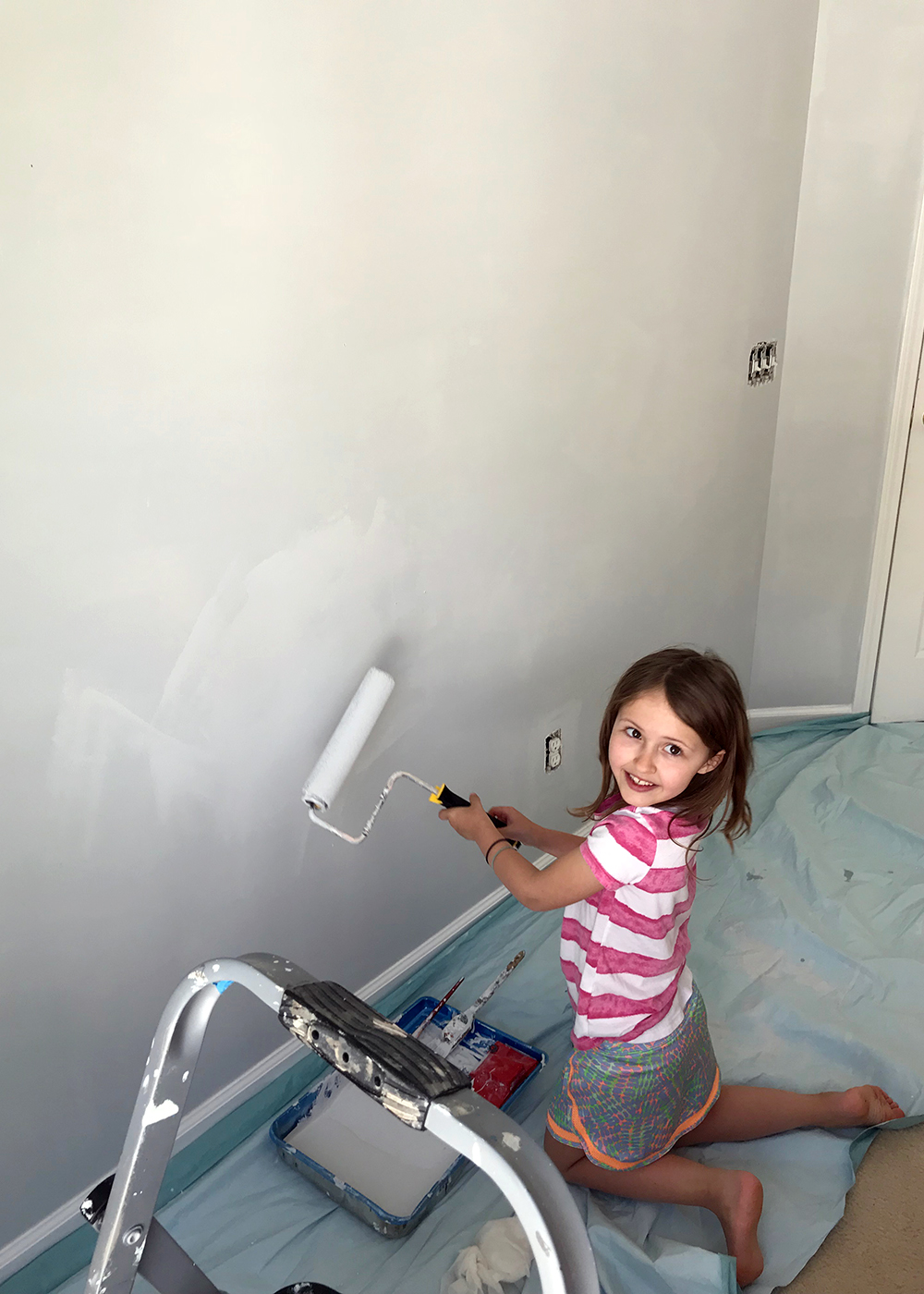 Eager helper painting SW Misty