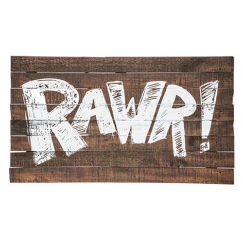Rawr! Wood Sign