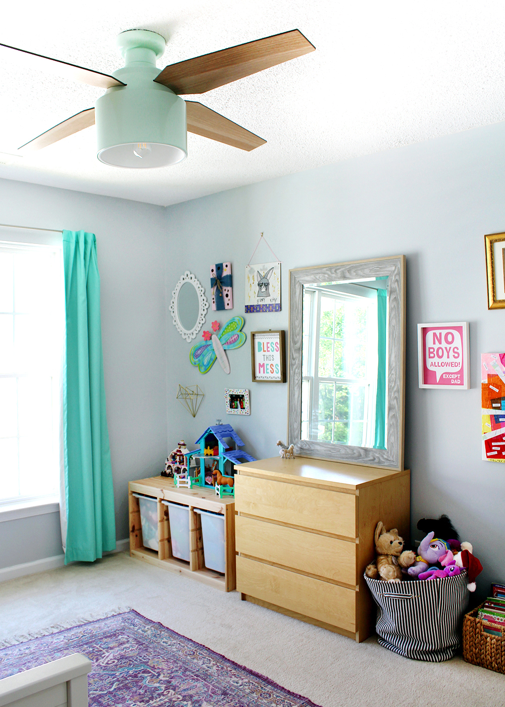 light blue girl's bedroom #tween #preteengirlsroom #kidsbedroom