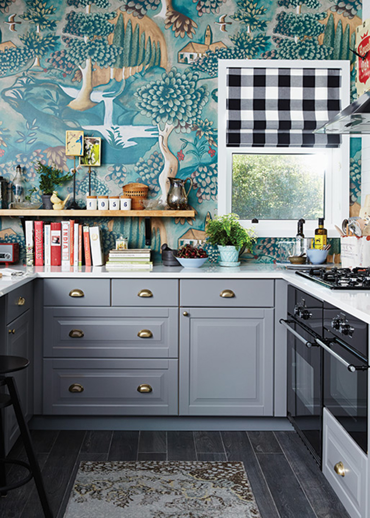 Wallpaper Backsplash via House & Home