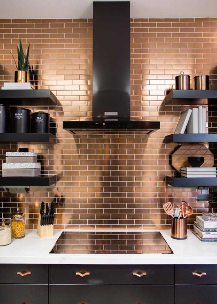 Copper Tiles via HGTV Smart Home