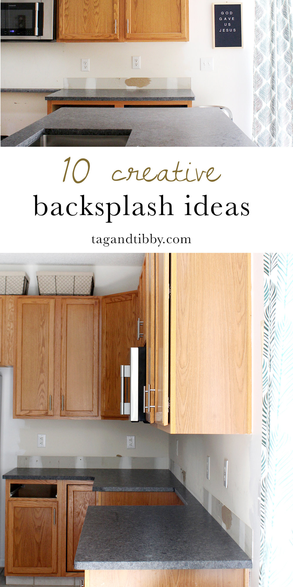 10 unique backsplash ideas for the kitchen--from sharpies to brass to wood paneling. These are inspiring!