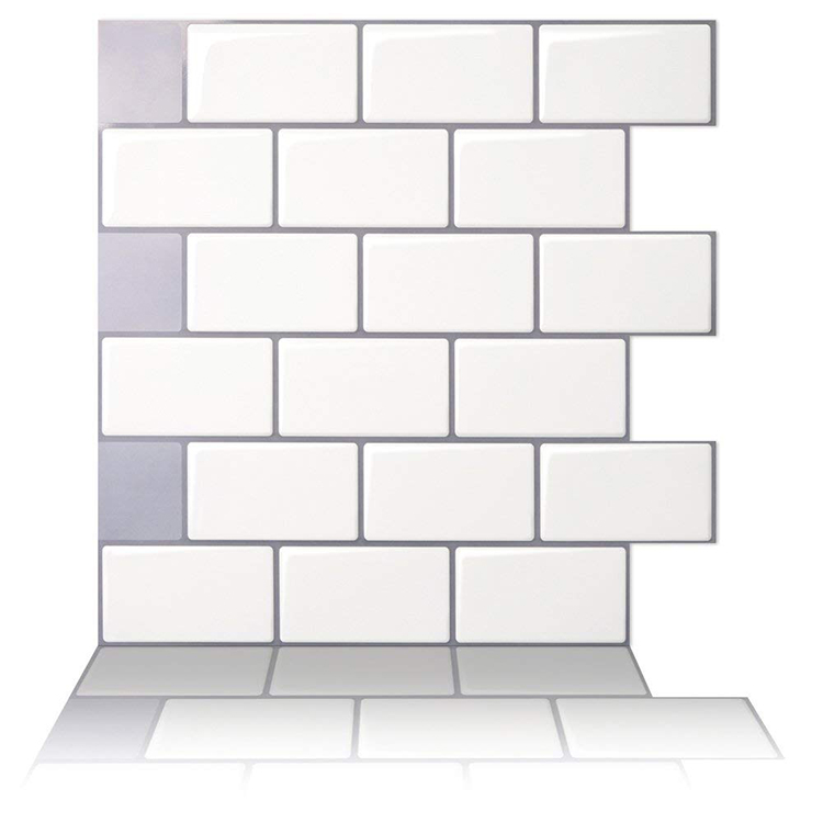 White Peel Stick Tile