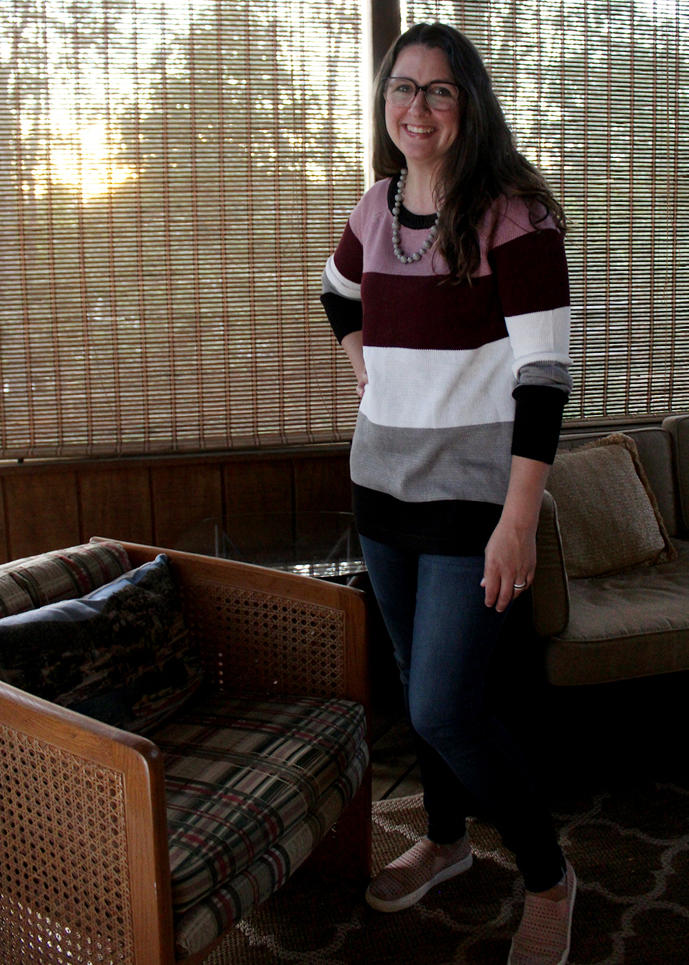 Striped sweater from Stitch Fix. Fall fashion ideas