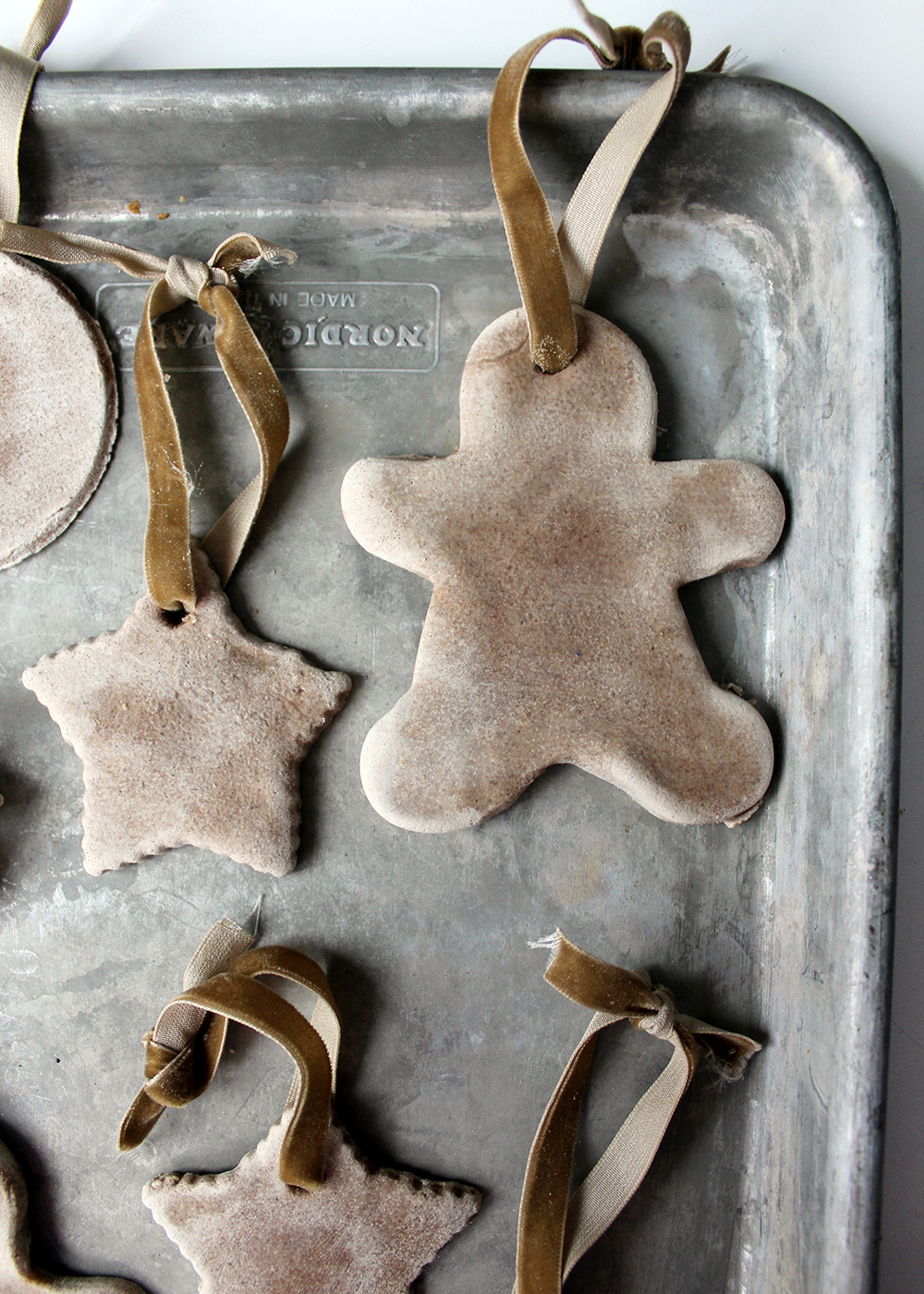 Instructions for how to make Salt Dough Ornaments With Cinnamon & Maple Ginger