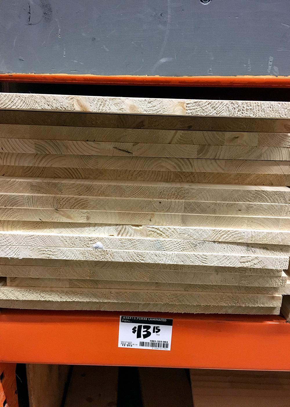 material for shelves