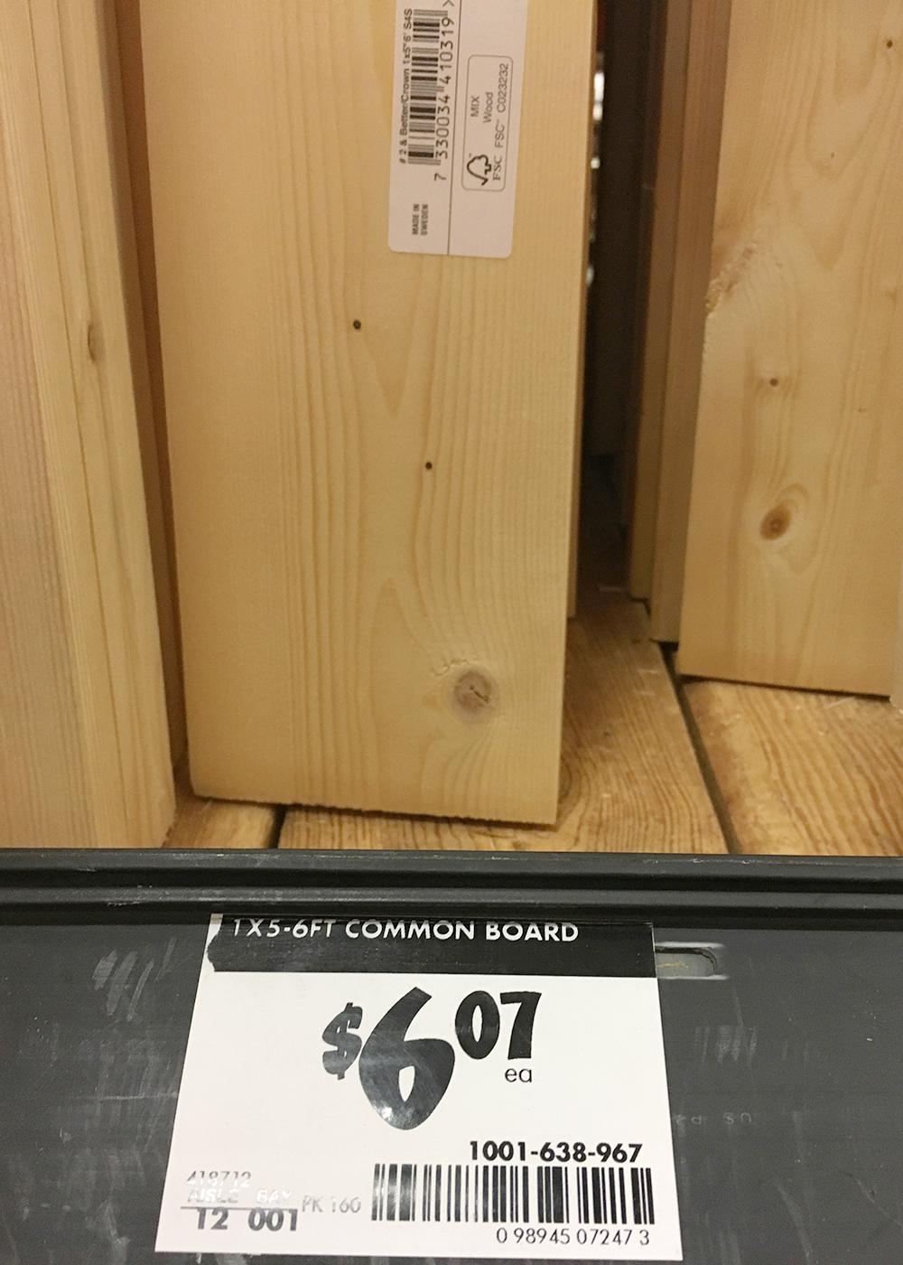 material for u-shaped shelves