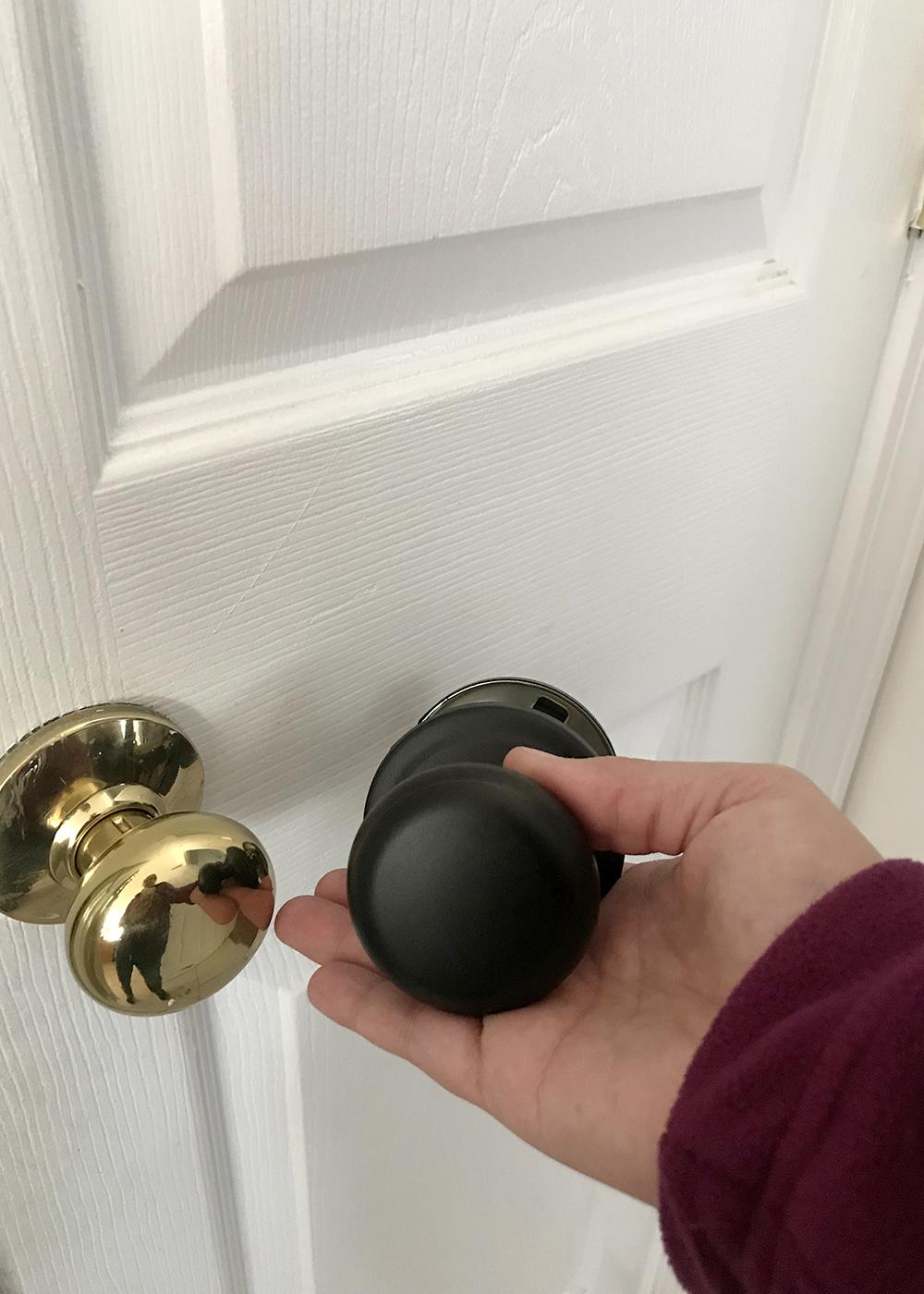 bye brass! new venetian bronze door knob